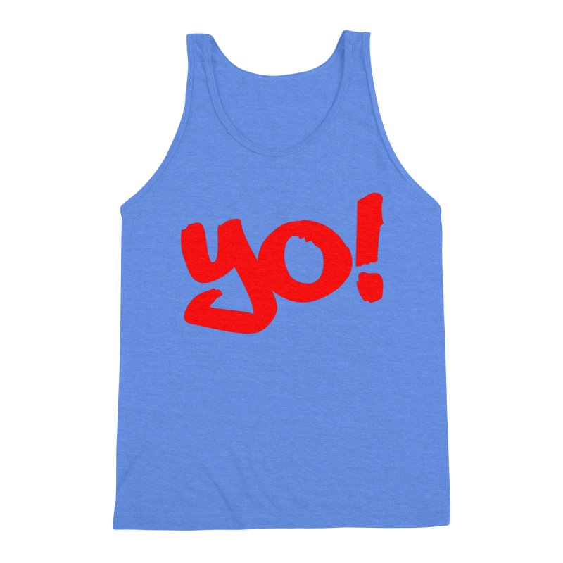 Yo! Philly Greeting Men's Triblend Tank by denisegraphiste's Artist Shop