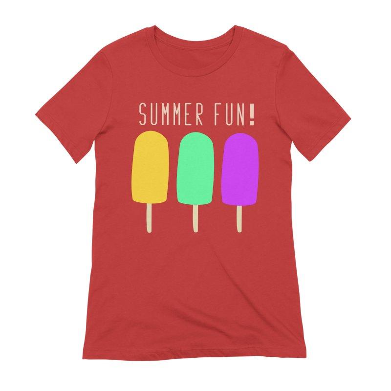 Summer Fun Popsicles Women's Extra Soft T-Shirt by denisegraphiste's Artist Shop