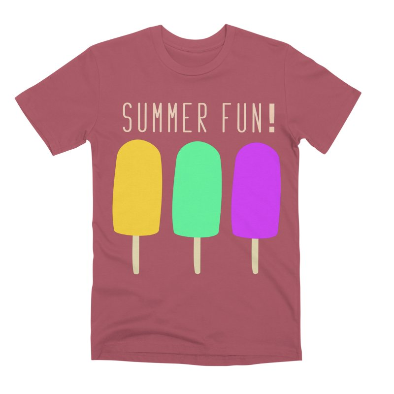 Summer Fun Popsicles Men's Premium T-Shirt by denisegraphiste's Artist Shop