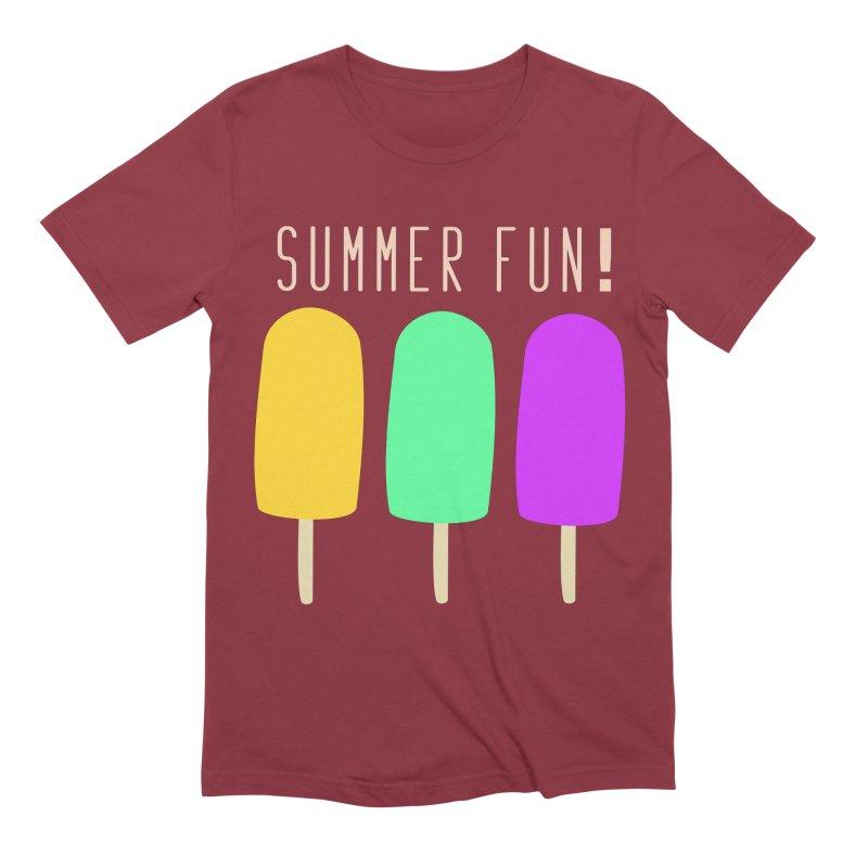Summer Fun Popsicles Men's Extra Soft T-Shirt by denisegraphiste's Artist Shop