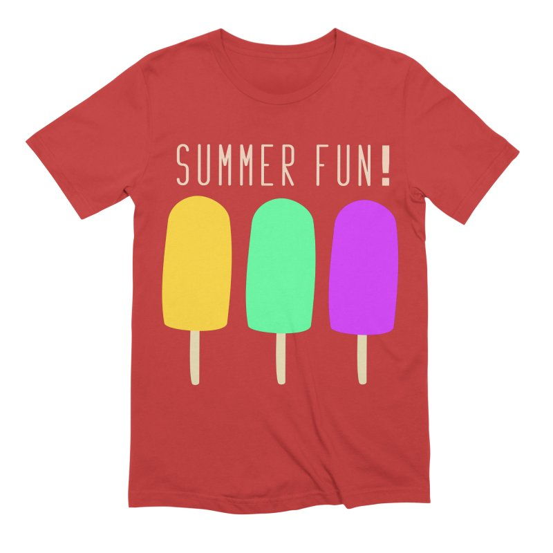 Summer Fun Popsicles Men's Extra Soft T-Shirt by denisegraphiste's Artist Shop