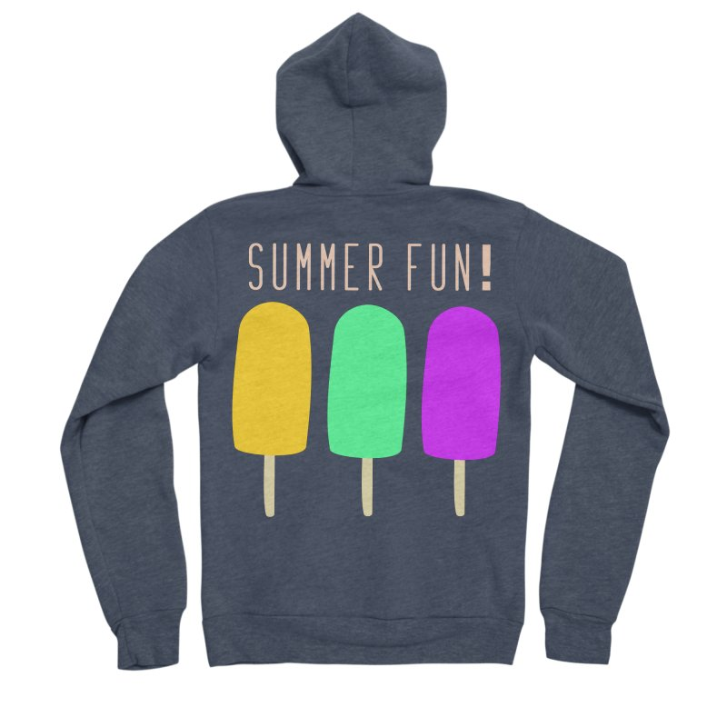 Summer Fun Popsicles Men's Sponge Fleece Zip-Up Hoody by denisegraphiste's Artist Shop
