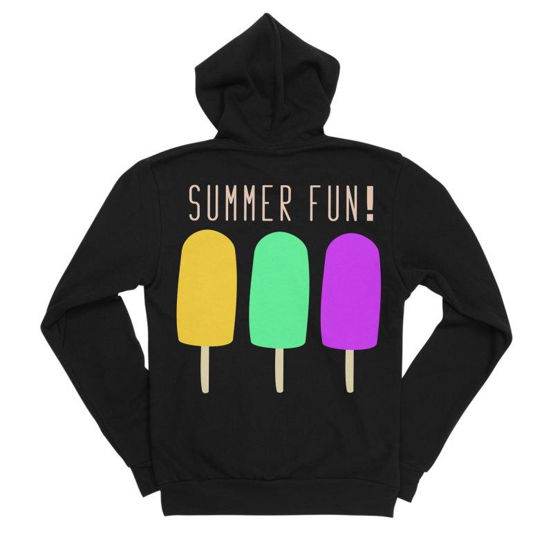 Summer Fun Popsicles Women's Sponge Fleece Zip-Up Hoody by denisegraphiste's Artist Shop