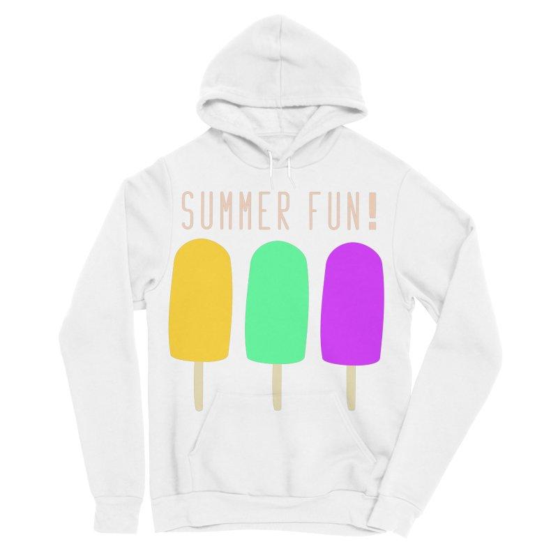 Summer Fun Popsicles Men's Sponge Fleece Pullover Hoody by denisegraphiste's Artist Shop