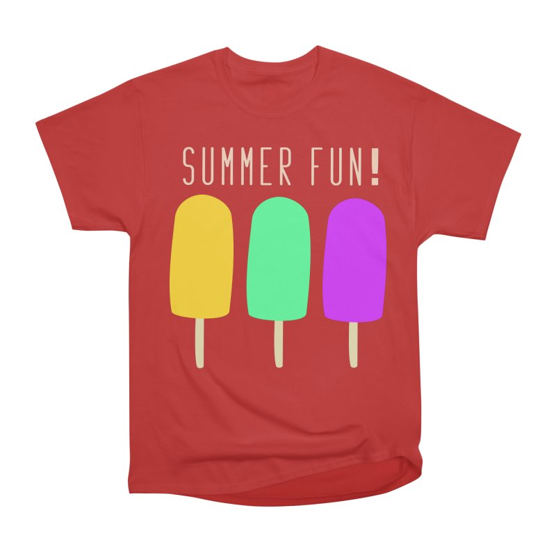 Summer Fun Popsicles Women's Heavyweight Unisex T-Shirt by denisegraphiste's Artist Shop
