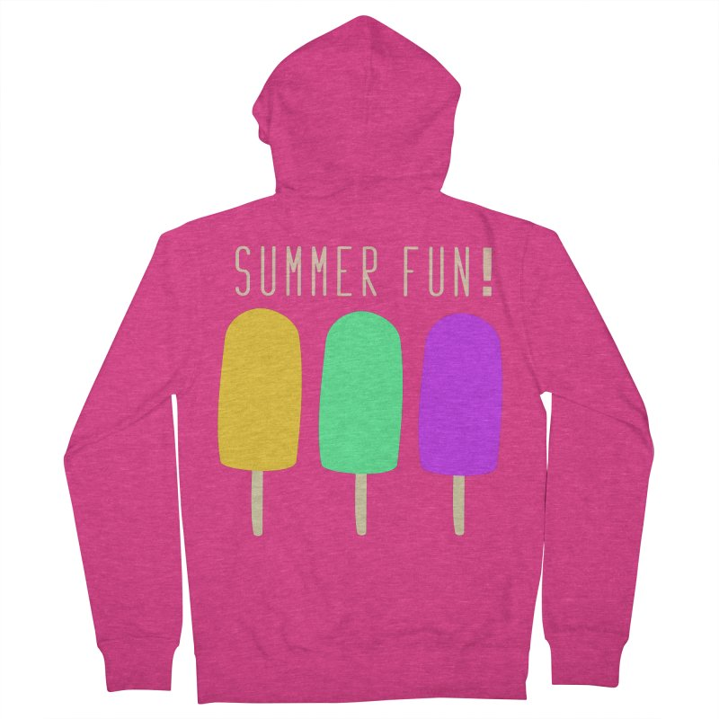 Summer Fun Popsicles Women's French Terry Zip-Up Hoody by denisegraphiste's Artist Shop