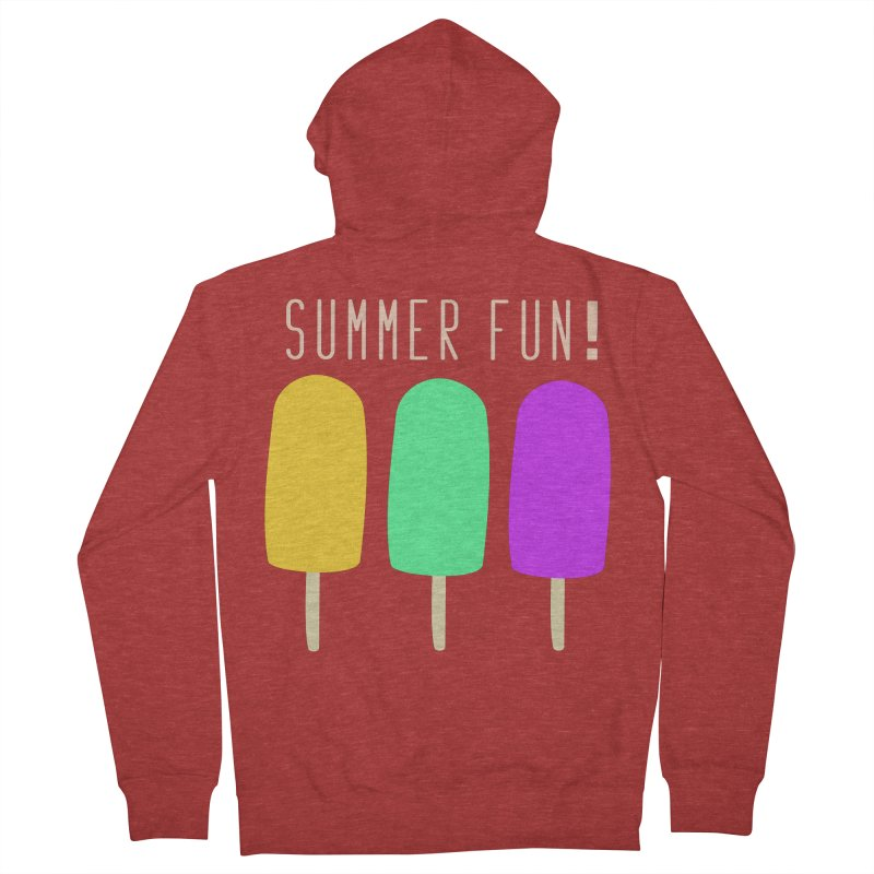 Summer Fun Popsicles Men's French Terry Zip-Up Hoody by denisegraphiste's Artist Shop