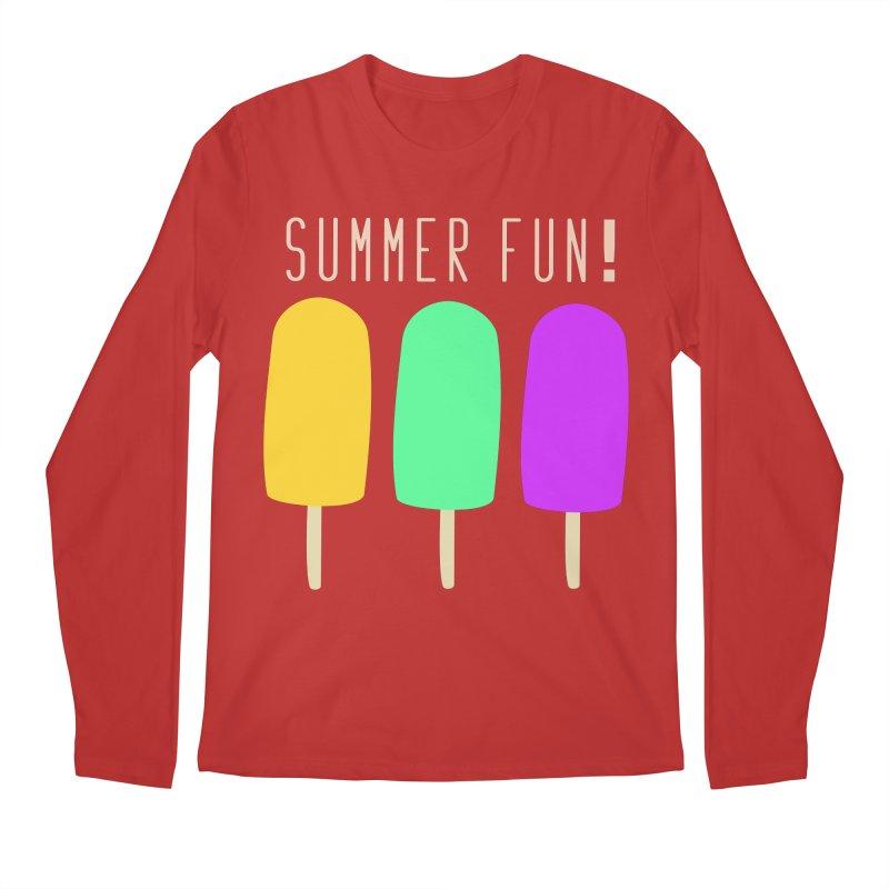 Summer Fun Popsicles Men's Regular Longsleeve T-Shirt by denisegraphiste's Artist Shop