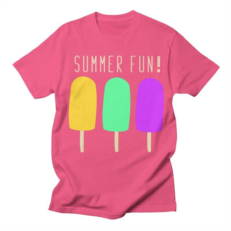 Summer Fun Popsicles Women's Regular Unisex T-Shirt by denisegraphiste's Artist Shop
