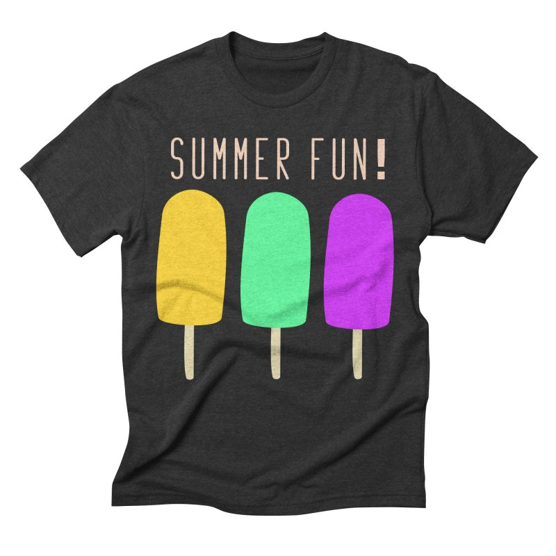 Summer Fun Popsicles Men's Triblend T-Shirt by denisegraphiste's Artist Shop