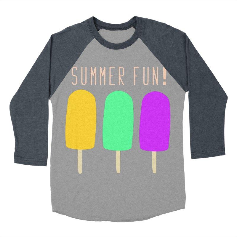 Summer Fun Popsicles Women's Baseball Triblend Longsleeve T-Shirt by denisegraphiste's Artist Shop