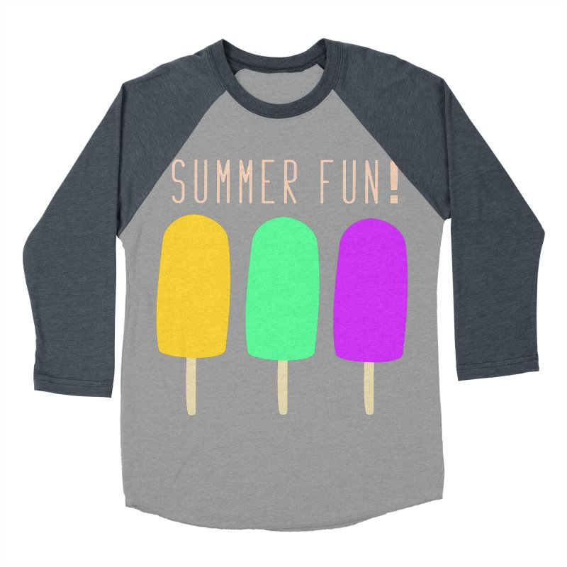 Summer Fun Popsicles Men's Baseball Triblend Longsleeve T-Shirt by denisegraphiste's Artist Shop
