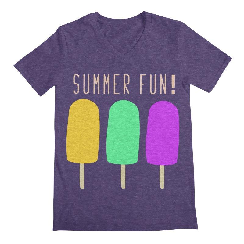 Summer Fun Popsicles Men's Regular V-Neck by denisegraphiste's Artist Shop