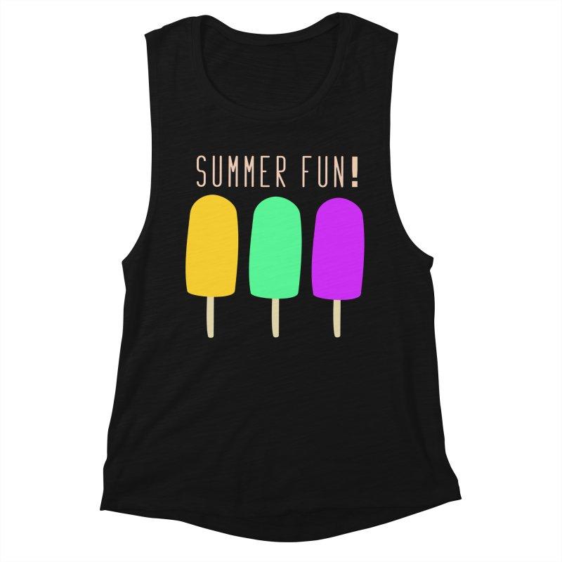 Summer Fun Popsicles Women's Muscle Tank by denisegraphiste's Artist Shop