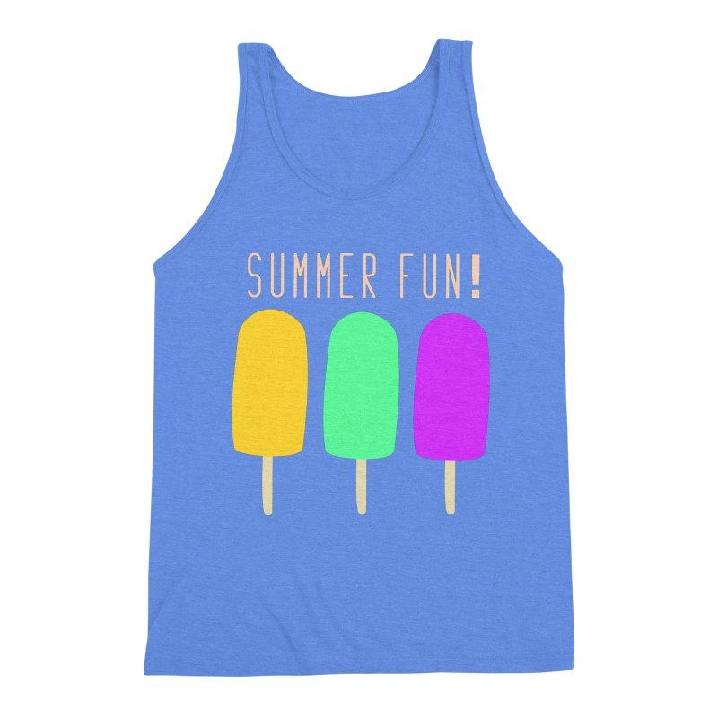Summer Fun Popsicles Men's Triblend Tank by denisegraphiste's Artist Shop