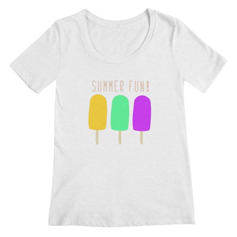 Summer Fun Popsicles Women's Regular Scoop Neck by denisegraphiste's Artist Shop