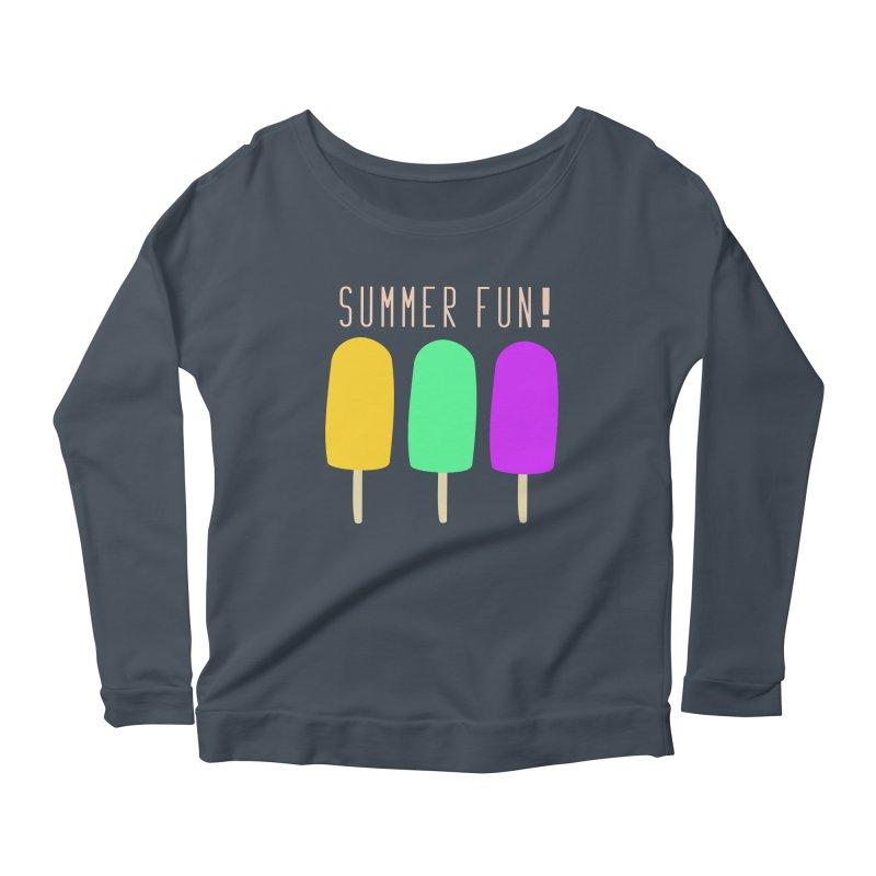 Summer Fun Popsicles Women's Scoop Neck Longsleeve T-Shirt by denisegraphiste's Artist Shop