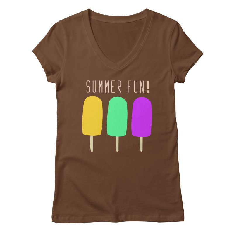 Summer Fun Popsicles Women's Regular V-Neck by denisegraphiste's Artist Shop
