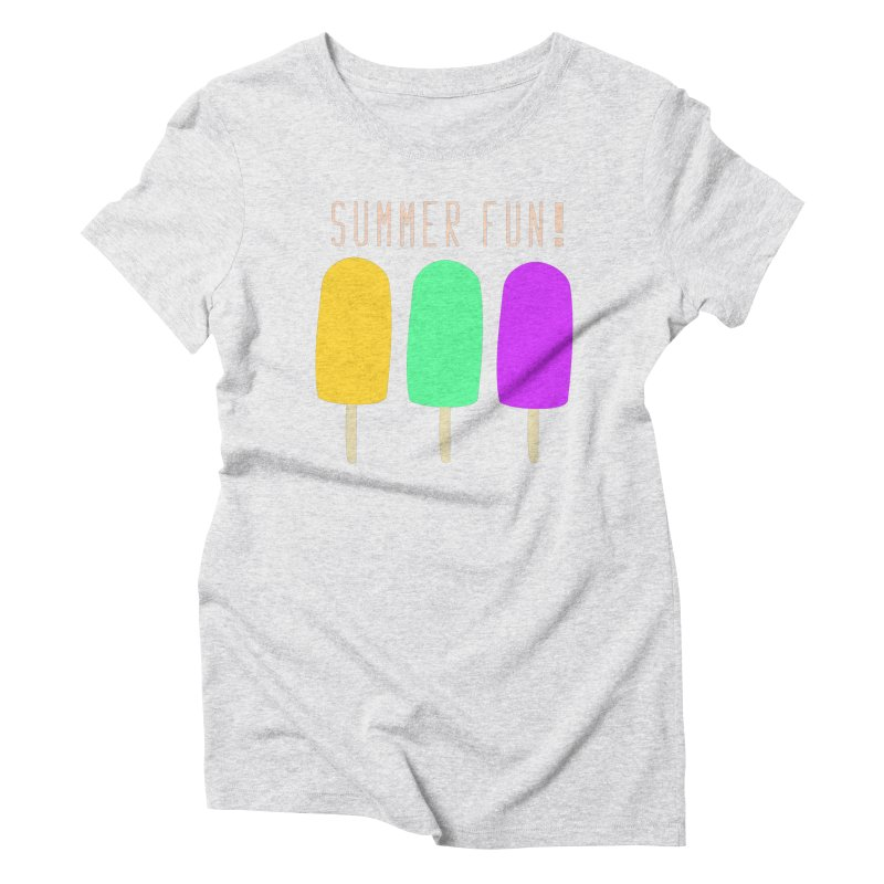 Summer Fun Popsicles Women's Triblend T-Shirt by denisegraphiste's Artist Shop