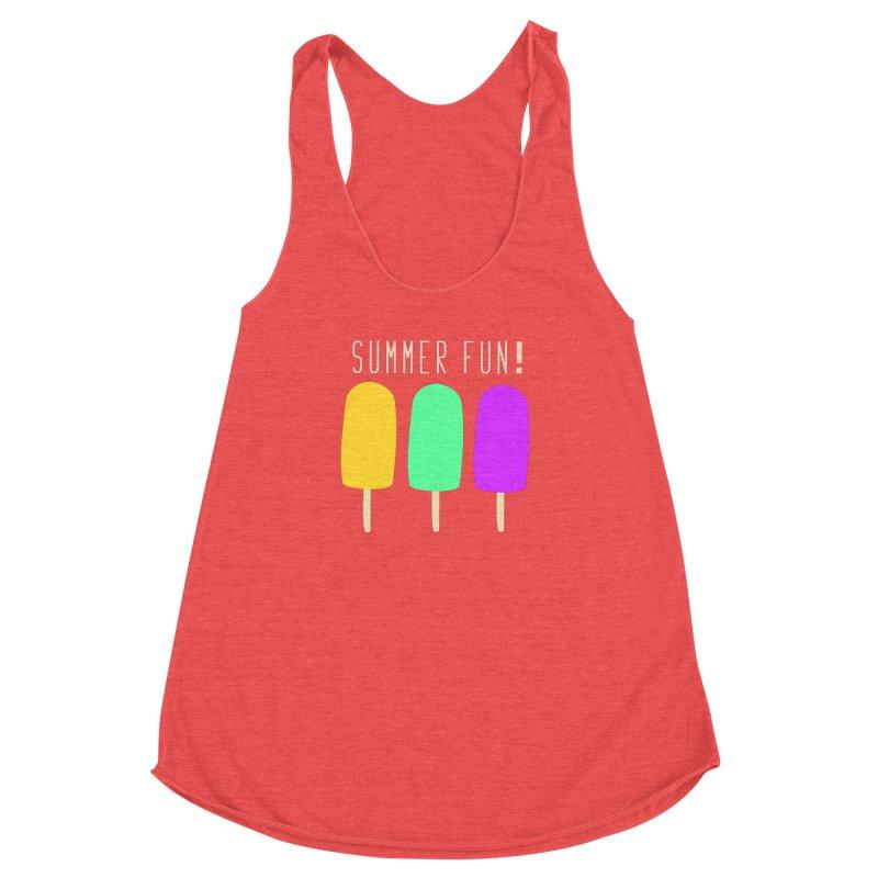 Summer Fun Popsicles Women's Racerback Triblend Tank by denisegraphiste's Artist Shop