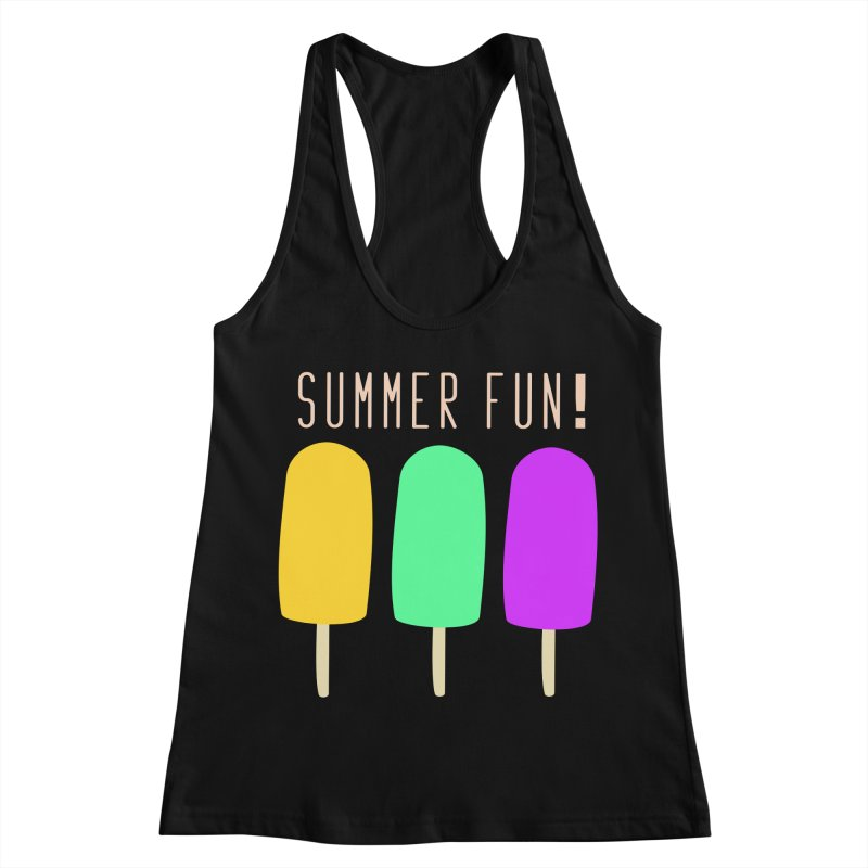 Summer Fun Popsicles Women's Racerback Tank by denisegraphiste's Artist Shop