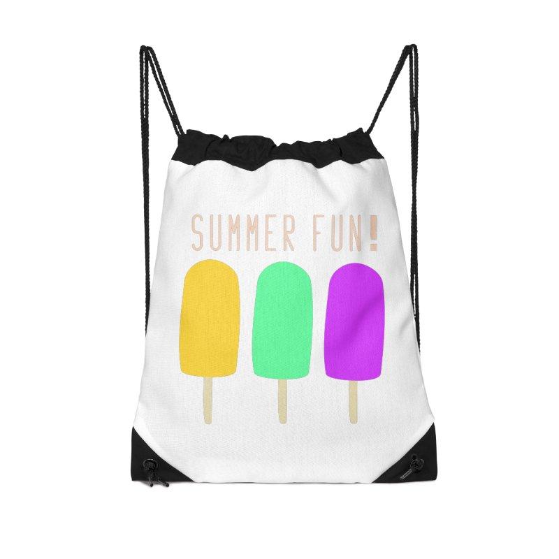 Summer Fun Popsicles Accessories Drawstring Bag Bag by denisegraphiste's Artist Shop