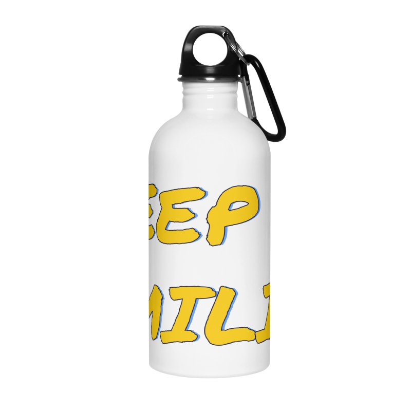 Keep Smilin' Accessories Water Bottle by denisegraphiste's Artist Shop