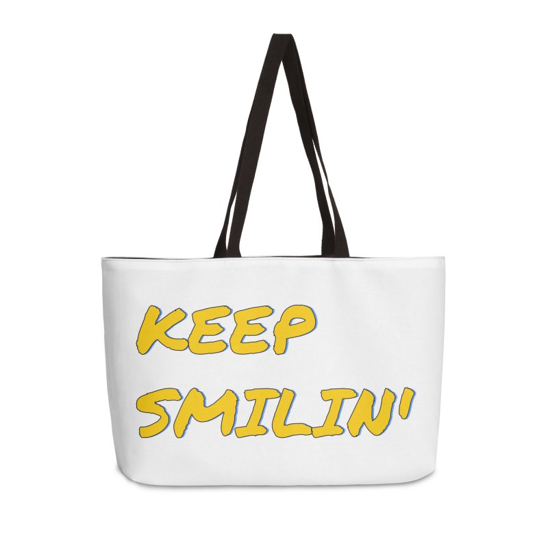 Keep Smilin' Accessories Weekender Bag Bag by denisegraphiste's Artist Shop