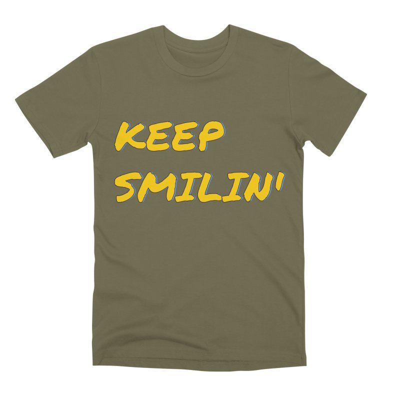 Keep Smilin' Men's Premium T-Shirt by denisegraphiste's Artist Shop