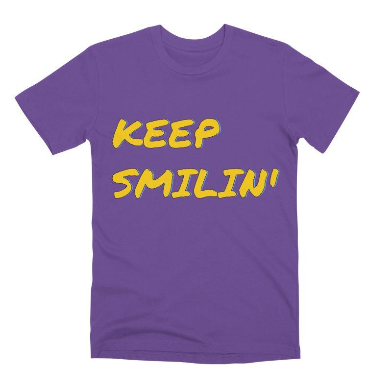 Keep Smilin' Men's Premium T-Shirt by denisegraphiste's Artist Shop