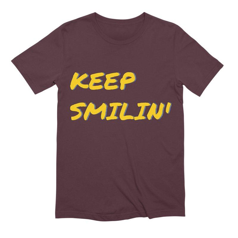 Keep Smilin' Men's Extra Soft T-Shirt by denisegraphiste's Artist Shop