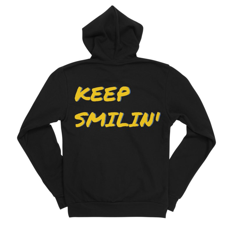 Keep Smilin' Men's Sponge Fleece Zip-Up Hoody by denisegraphiste's Artist Shop