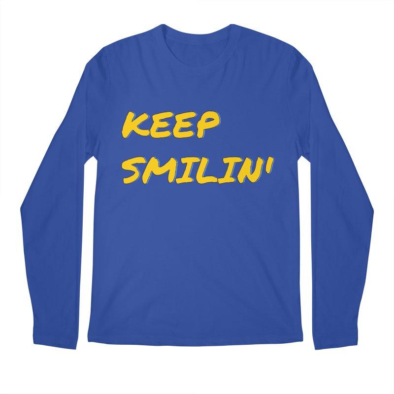 Keep Smilin' Men's Regular Longsleeve T-Shirt by denisegraphiste's Artist Shop