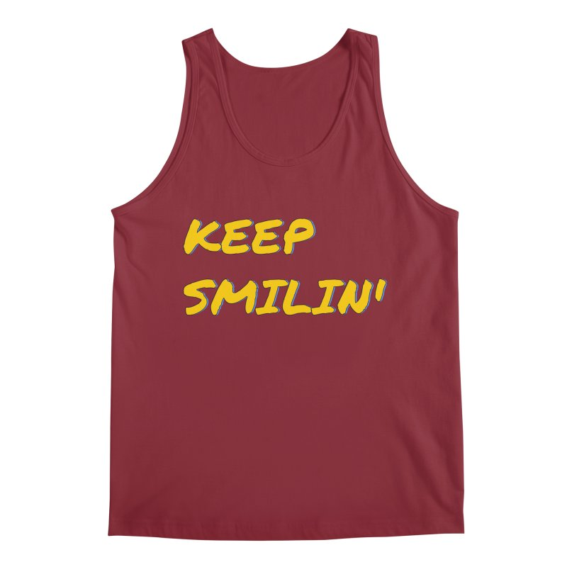 Keep Smilin' Men's Regular Tank by denisegraphiste's Artist Shop