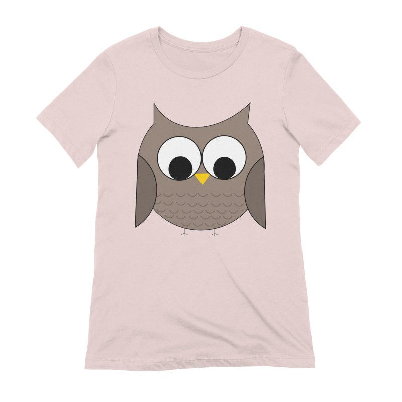 Owl in the Sky Women's Extra Soft T-Shirt by denisegraphiste's Artist Shop