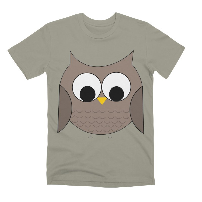 Owl in the Sky Men's Premium T-Shirt by denisegraphiste's Artist Shop