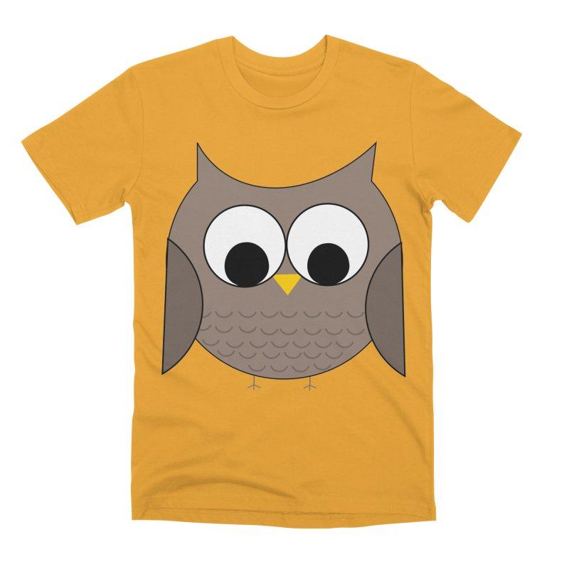 Owl in the Sky Men's Premium T-Shirt by denisegraphiste's Artist Shop