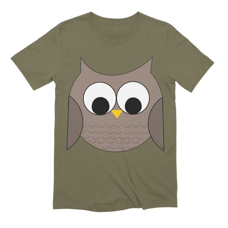 Owl in the Sky Men's Extra Soft T-Shirt by denisegraphiste's Artist Shop