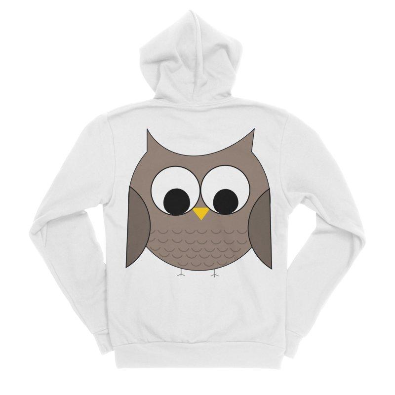Owl in the Sky Men's Sponge Fleece Zip-Up Hoody by denisegraphiste's Artist Shop