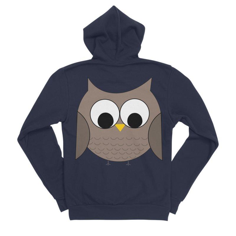 Owl in the Sky Women's Sponge Fleece Zip-Up Hoody by denisegraphiste's Artist Shop