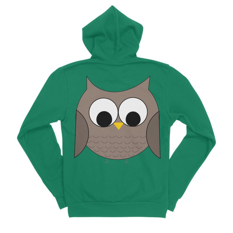 Owl in the Sky Men's Sponge Fleece Zip-Up Hoody by denisegraphiste's Artist Shop