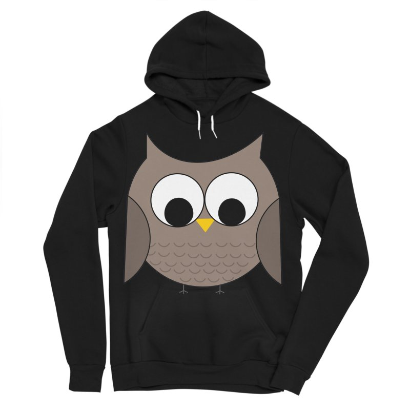 Owl in the Sky Men's Sponge Fleece Pullover Hoody by denisegraphiste's Artist Shop
