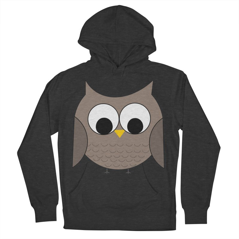 Owl in the Sky Women's French Terry Pullover Hoody by denisegraphiste's Artist Shop