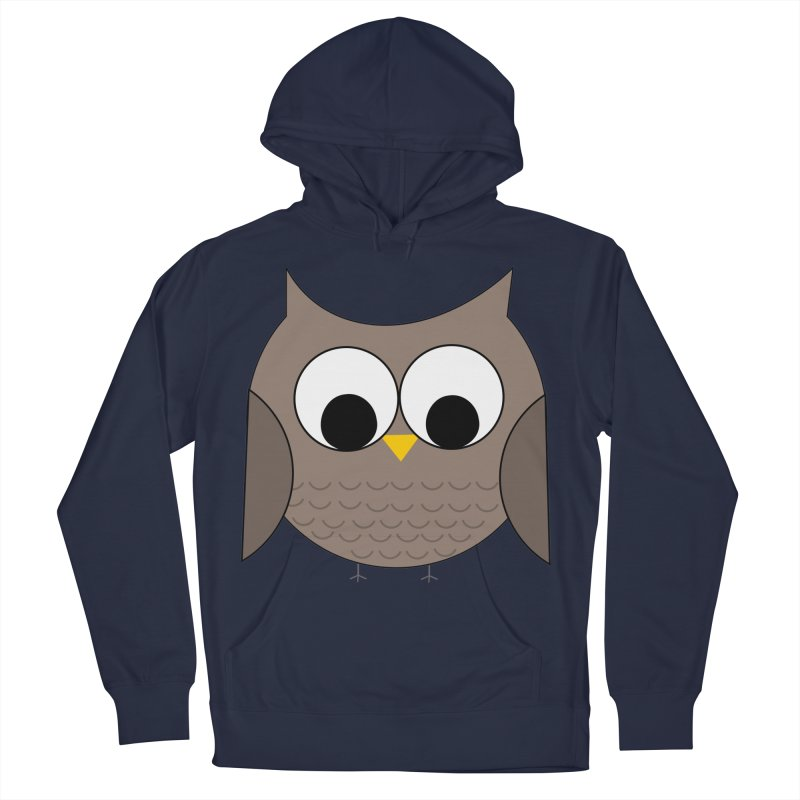 Owl in the Sky Men's French Terry Pullover Hoody by denisegraphiste's Artist Shop