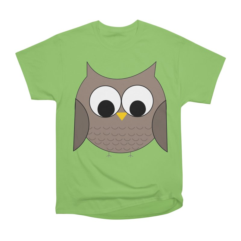 Owl in the Sky Women's Heavyweight Unisex T-Shirt by denisegraphiste's Artist Shop