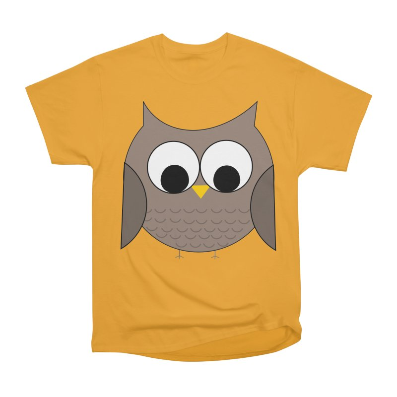 Owl in the Sky Women's Heavyweight Unisex T-Shirt by denisegraphiste's Artist Shop