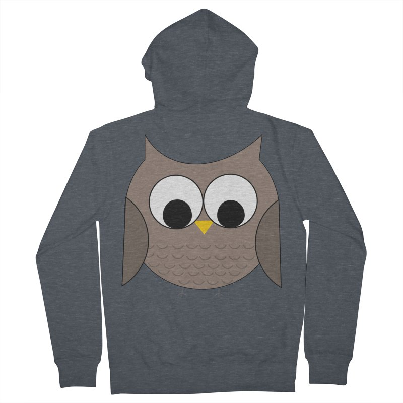 Owl in the Sky Women's French Terry Zip-Up Hoody by denisegraphiste's Artist Shop