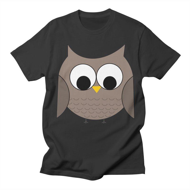 Owl in the Sky Men's Regular T-Shirt by denisegraphiste's Artist Shop