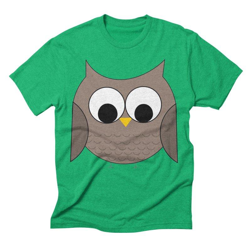 Owl in the Sky Men's Triblend T-Shirt by denisegraphiste's Artist Shop