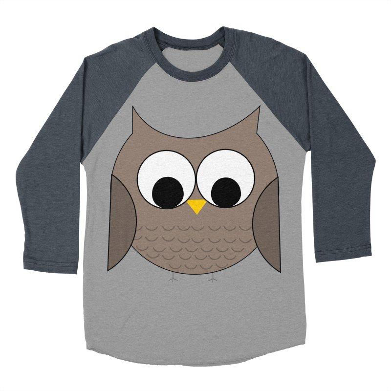 Owl in the Sky Women's Baseball Triblend Longsleeve T-Shirt by denisegraphiste's Artist Shop